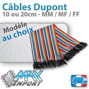 Cables-Dupont-par-10-20-ou-40-10-20cm-MM-MF-FF-compatible-Arduino
