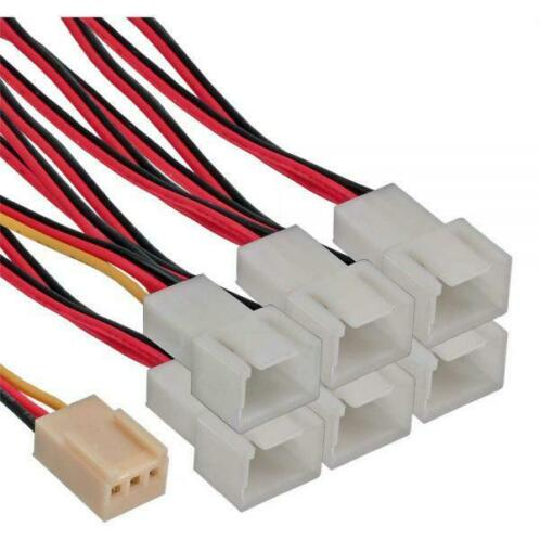1 To 6-Way 3-Pin PWM Fan Adapter Cable