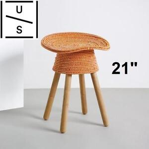 """NEW UMBRA SHIFT COILED STOOL RED 21"""" Hand-woven LIVING ROOM FURNITURE 103167103"""