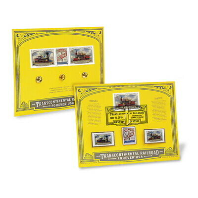 USPS New Transcontinental Railroad Stamped Pin Set