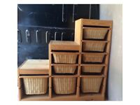 Trofast wooden storage unit