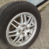 acura 14 inch rims with tires 4 bolt