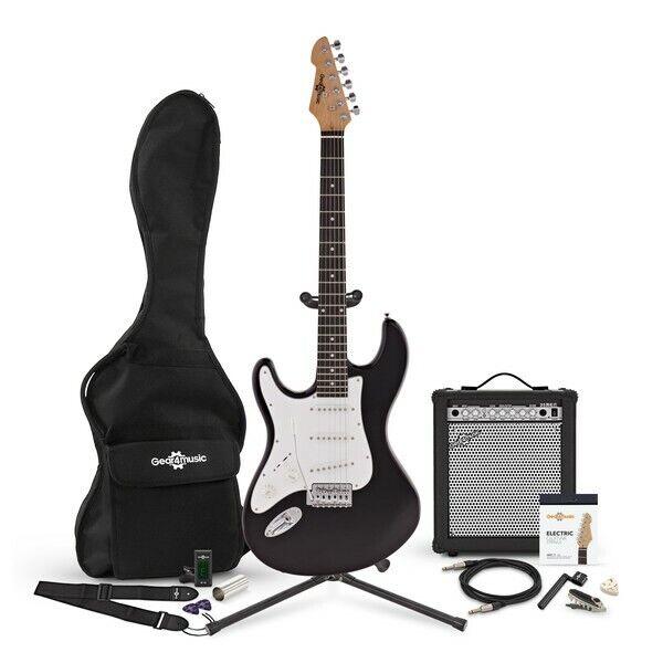 LA Guitar Left Handed Electric Guitar + 35W Amp Complete Pack