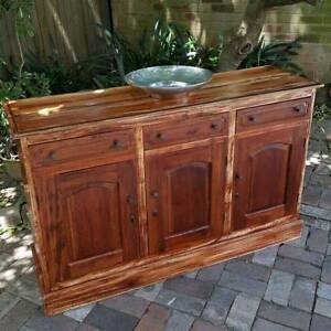 Sideboard Buffet Kitchen Cupboard Distressed Solid Teak Coogee Eastern Suburbs Preview