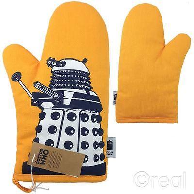New Doctor Who Orange Dalek Oven Glove Mitt Pot Holder BBC Official Mitt Pot Holder