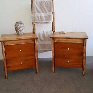 Pair of Bedside Tables Lockers W Drawers Distressed Finish Coogee Eastern Suburbs Preview