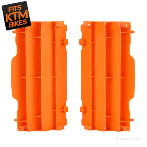 Polisport-KTM-SX-SXF-125-250-350-450-07-15-EXC-08-15-Radiator-Louvres-Plastic-OR