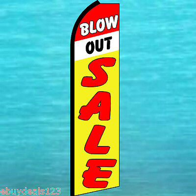Blow Out Sale Flutter Feather Flag Vertical Advertising Sign Bow Banner Swooper
