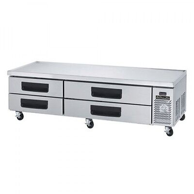 Blue Air Bacb86m 86-inch Refrigerated Equipment Stand Chefs Base - 4 Drawers