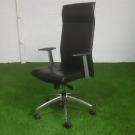 Black and Chrome Executive Chair