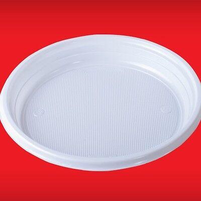100 - 2000 Menüteller Plastikteller Einweg Teller Einweggeschirr weiß ungeteilt