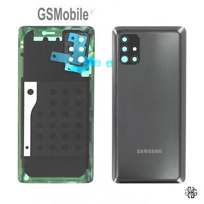 Tapa Bateria Cristal Camara Lente Battery Cover Negro Samsung Galaxy A51 5G...