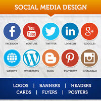 Social Media Banners, Logos, Business Card, Graphics 75% Off!