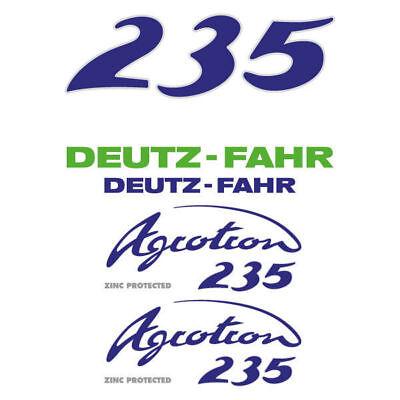 Deutz-fahr Agrotron 235 Tractor Decal Aufkleber Sticker Set