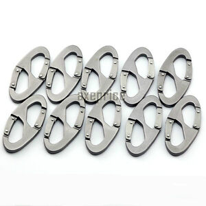 10Pcs-Aluminum-Carabiner-Snap-Clip-Hook-Keychain-Hiking-Bottle-scout-buckle-tool