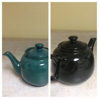 Green and black 2cup teapots for sale