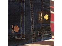 """Versace Men's Denim Jeans 40"""" waist long 34"""" leg"""
