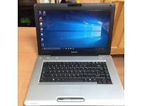 4GB fast Toshiba satellite Pro HD laptop 250GB,window10,Microsoft office,ready,excellent cond