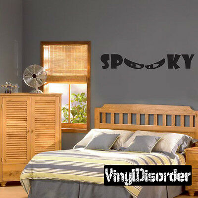 Halloween Spooky Holiday Vinyl Wall Decal Mural Quotes Words -arth3e1 (E Halloween Words)