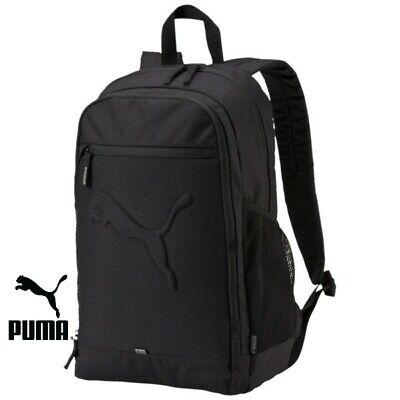 Puma Buzz Backpack Rucksack School Backpacks Training Gym Sports Bags Black