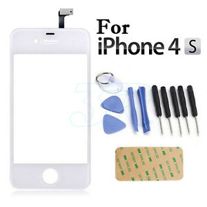 Digitizer Front Glass Touch Repair Kit for Apple iPhone 4S Screen Replacement