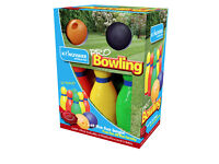 Family Kids Indoor Outdoor Fun Plastic 2 Bowling Ball and Skittle Game Set brand new