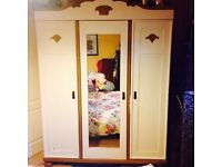 Large double wardrobe and shelves