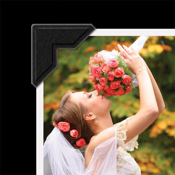 Lineco 252 Photo Corners, Self adhesive, BLACK. FAST FREE Shipping (bin 808-A)
