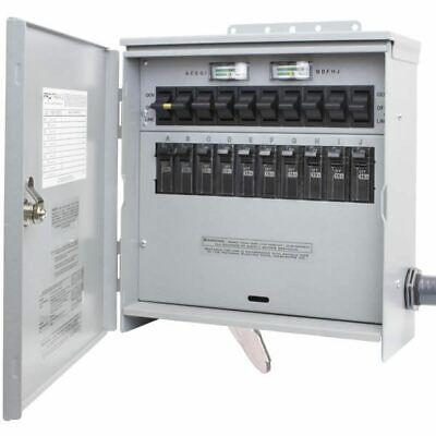 Reliance Controls Protran2 - 50-amp 120240v 10-circuit Outdoor Transfer S...