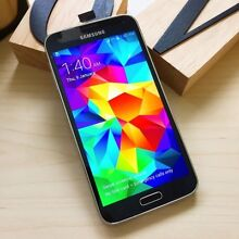 Pre owned Samsung Galaxy S5 black 16G au model with all accessory Calamvale Brisbane South West Preview