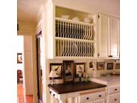 beautiful antique kitchen plate rack