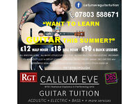 NEW! Acoustic/Electric or Bass Guitar Lessons