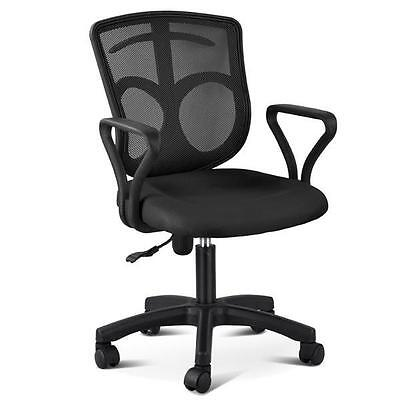 Black Mesh High Back Swivel Office Desk Chair With Arms Fabric Mesh Seat Backres