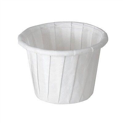 Solo Souffle Cups, .75 oz., White, Paper, 5000/CS, - White Solo Cups