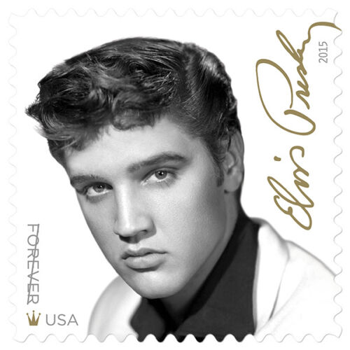Купить New USPS Elvis Presley Forever Stamp Sheet of 16