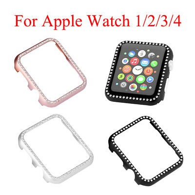 - For Apple Watch 1/2/3/4 iWatch Face Case Cover 38/42mm Bling Crystal Rhinestone