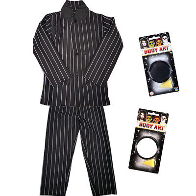 CHILDRENS KIDS BOYS PINSTRIPE SUIT PAINT FANCY DRESS COSTUME HALLOWEEN HORROR](Pinstripe Suit Costume)