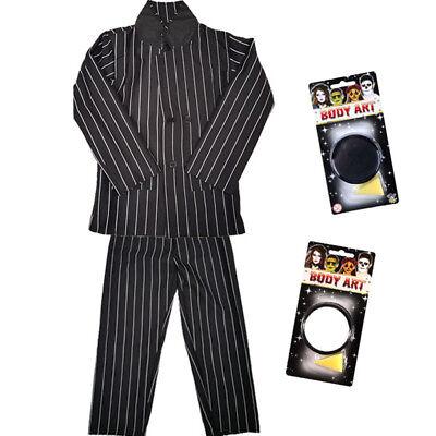 CHILDRENS KIDS BOYS PINSTRIPE SUIT PAINT FANCY DRESS COSTUME HALLOWEEN HORROR - Pinstripe Suit Costume