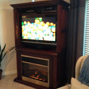 meuble de télévision avec foyer intégré magnifique meuble de salon ...