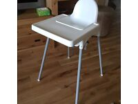 IKEA Antilop High Chair with Tray and Belt