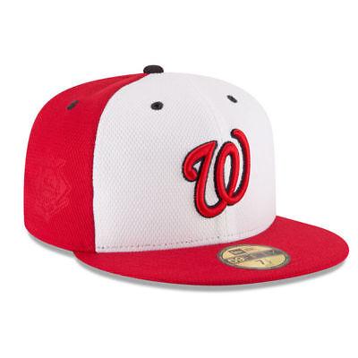 White Washington Hat - Washington Nationals New Era White/Red Game Diamond Era 59FIFTY Fitted Hat