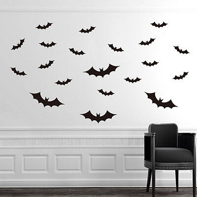 Set of 20 x Bat Halloween Wall Stickers Decal  Removable Art Home Decor New