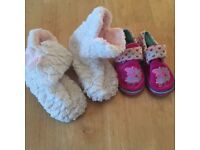 2 x kids slippers size 9