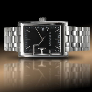 NEW La Fontaine 1188M-02M Frizon Men's Swiss Stain.Steel Watch