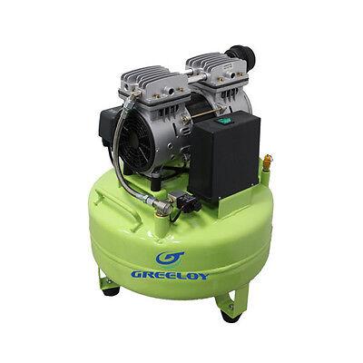 Air Compressor Silent Oil Free 6.3 Gallon Tank Dental Lab Jeweler 8 Bar116 Psi