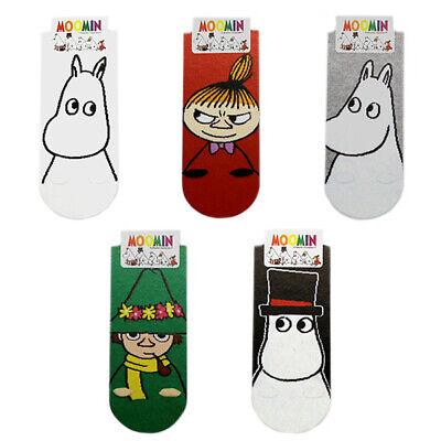 5 Pairs Moomin Cute Lovely Animation Character Socks Cartoon Socks MADE IN KOREA