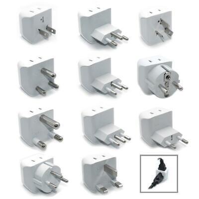 Ceptics 11pcs International Travel Adapter Plug Set - Grounded (CT-11PK ) - International Adapter Set