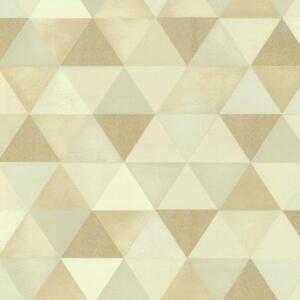 Grafico-ALIVE-Moderno-geometrico-triangulos-Crema-y-beis-Papel-pintado-13267-10
