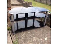 Glass corner unit / tv stand