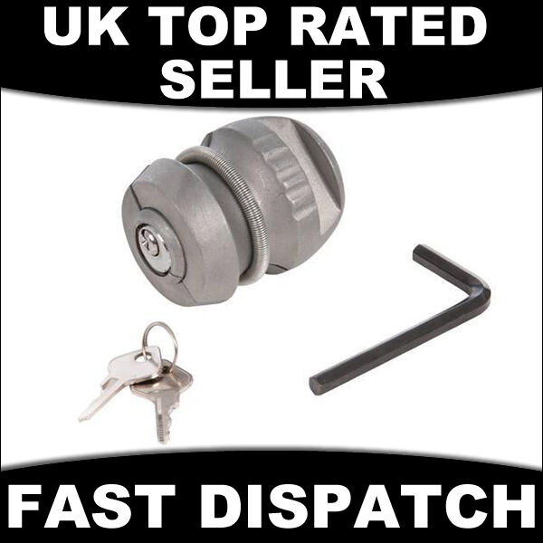 CARAVAN TRAILER HITCH LOCK 50MM COUPLING SECURITY BALL INSERTABLE HITCHLOCK TOW